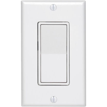Picture of Do it Best Residential Grade 15 Amp Rocker Single Pole Switch, White