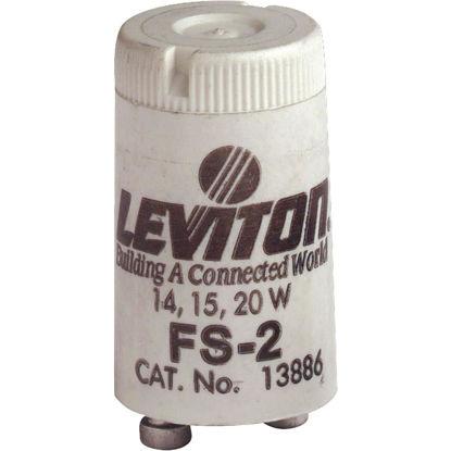 Picture of Leviton 14W/15W/20W 2-Pin T8 Fluorescent Starter