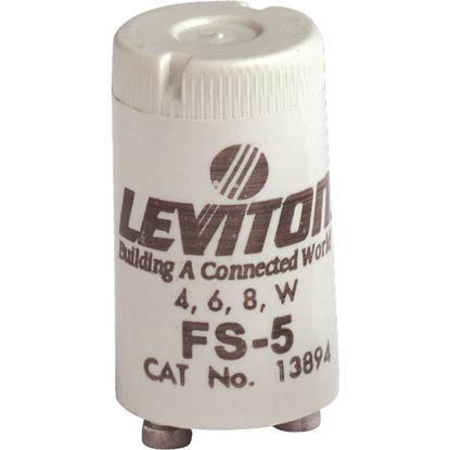 Picture of Leviton 4W/6W/8W 2-Pin T8 Fluorescent Starter