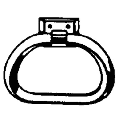 Picture of Decko Chrome/White Plastic Towel Ring