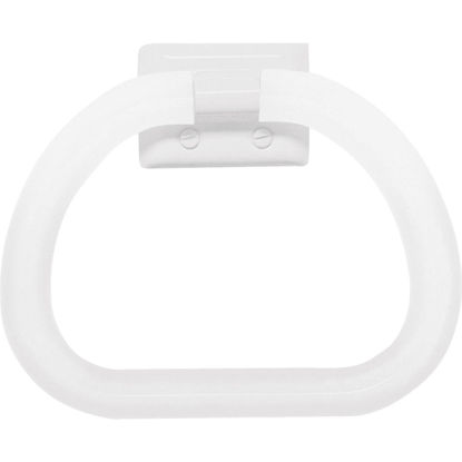 Picture of Decko White Plastic Towel Ring