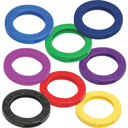 Picture of Lucky Line Vinyl Medium Size Key Identifier Ring, Assorted Colors (4-Pack)
