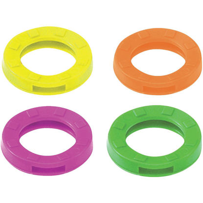 Picture of Lucky Line Vinyl Medium Size Key Identifier Ring, Assorted Neon Colors (200-Pack)