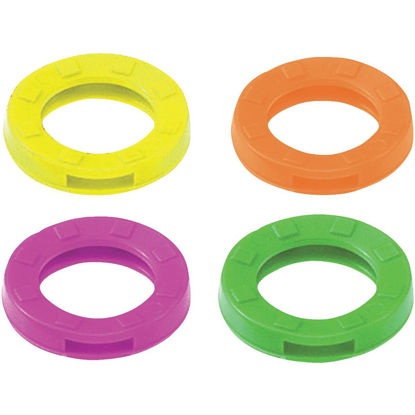Picture of Lucky Line Vinyl Large Size Key Identifier Ring, Assorted Neon Colors (3-Pack)
