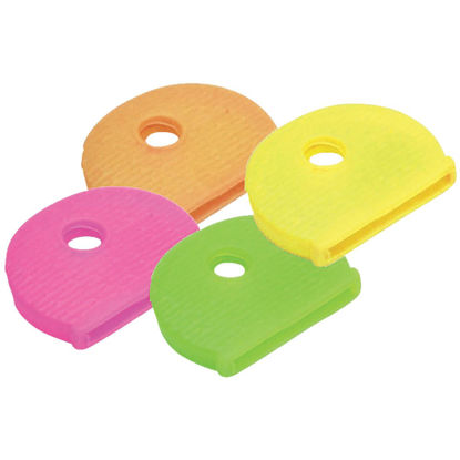 Picture of Lucky Line Vinyl Key Identifier Cap, Assorted Neon Colors (200-Pack)