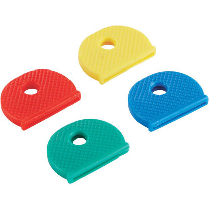 Picture of Lucky Line Vinyl Key Identifier Cap, Assorted Colors (4-Pack)
