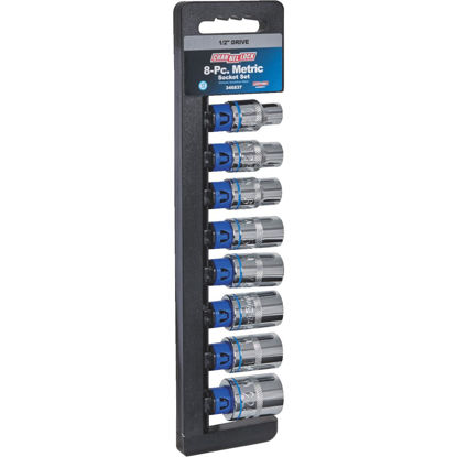 Picture of Channellock Metric 1/2 In. Drive 12-Point Shallow Socket Set (8-Piece)