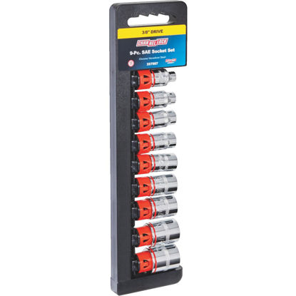 Picture of Channellock Standard 3/8 In. Drive 12-Point Shallow Socket Set (9-Piece)