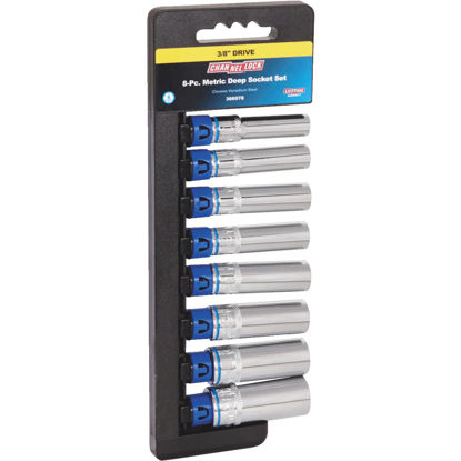 Picture of Channellock Metric 3/8 In. Drive 6-Point Deep Socket Set (8-Piece)