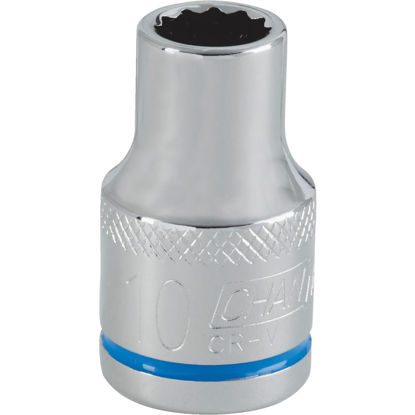 Picture of Channellock 1/2 In. Drive 10 mm 12-Point Shallow Metric Socket