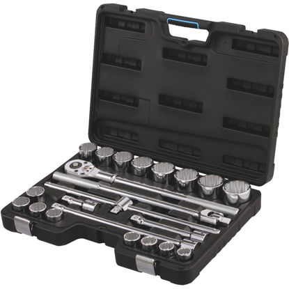 Picture of Channellock Standard 3/4 In. Drive 12-Point Shallow Socket Set (23-Piece)