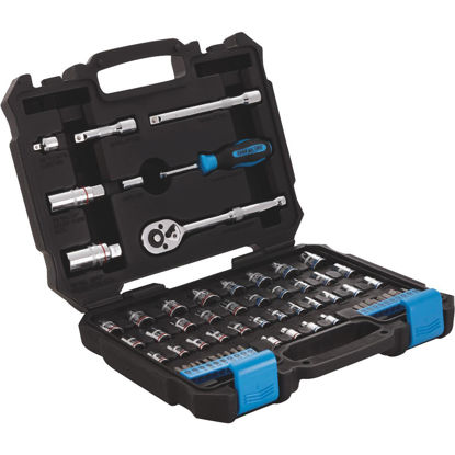 Picture of Channellock Standard and Metric 1/4 In. and 3/8 In. Drive Combination Socket Set (63-Piece)