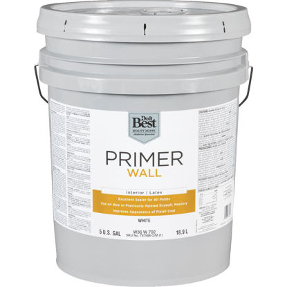 Picture of Do it Best Interior Latex Wall Primer, White, 5 Gal.