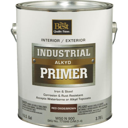 Picture of Do it Best Alkyd Industrial Primer, Red Oxide/Brown, 1 Gal.