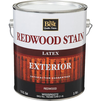 Picture of Do it Best Exterior Stain, Redwood, 1 Gal.