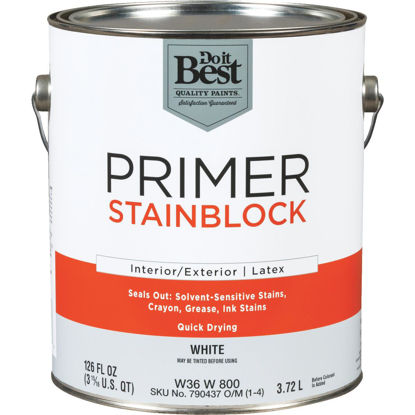 Picture of Do it Best Latex Interior/Exterior Stain Blocking Primer, White, 1 Gal.