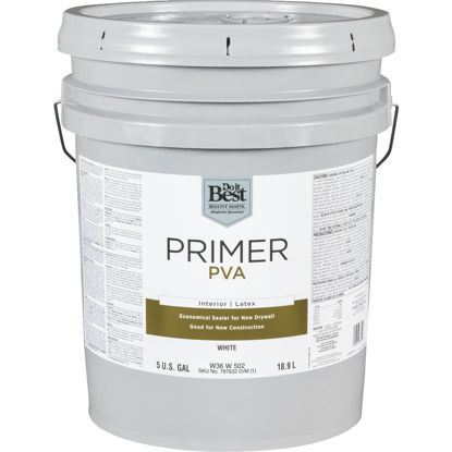 Picture of Do it Best PVA Interior Latex Drywall Primer, White, 5 Gal.
