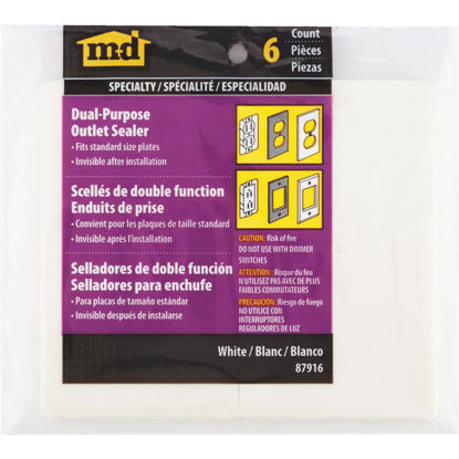 Picture of M-D Switch & Wall Plate Insulator, 6-Pack