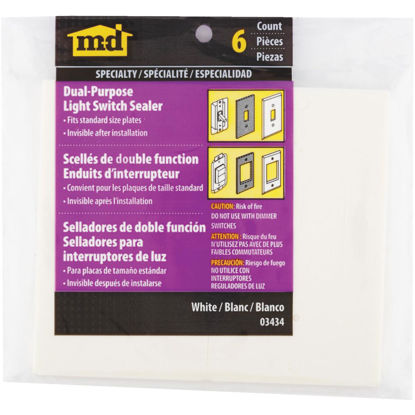 Picture of M-D Dual Purpose Switch & Wall Plate Insulator, 6-Pack