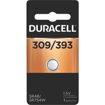 Picture of Duracell 309/393 Silver Oxide Button Cell Battery