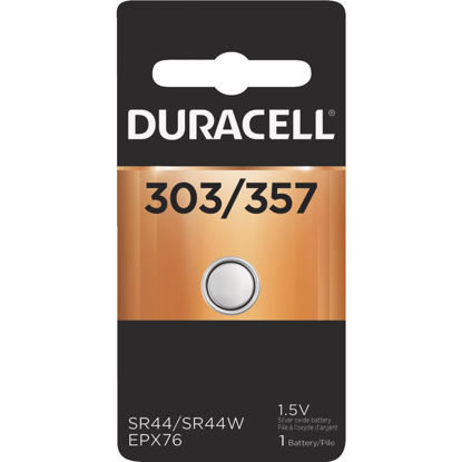 Picture of Duracell 303/357 Silver Oxide Button Cell Battery
