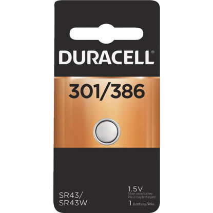 Picture of Duracell 301/386 Silver Oxide Button Cell Battery