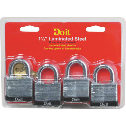 Picture of Do it 1-1/2 In. W. Laminated Steel Padlock (4 Pack)