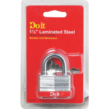 Picture of Do it 1-1/2 In. Wide Warded Steel Padlock