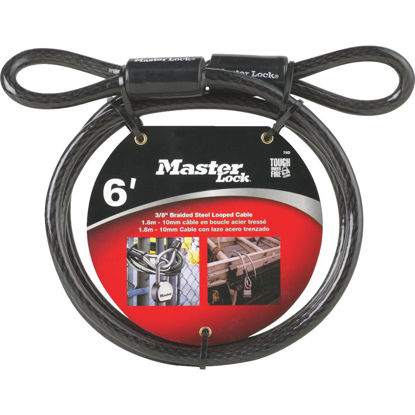 Picture of Master Lock 6 Ft. x 3/8 In. Steel Cable