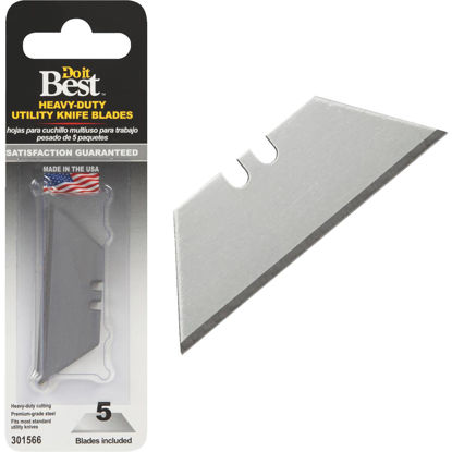 Picture of Do it Best 2-Point Heavy-Duty 2-3/8 In. Utility Knife Blade (5-Pack)