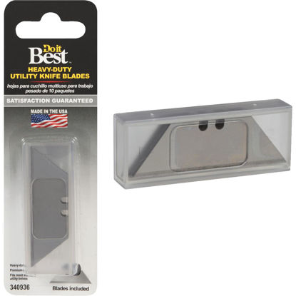 Picture of Do it Best 2-Point Heavy-Duty 2-3/8 In. Utility Knife Blade (10-Pack)
