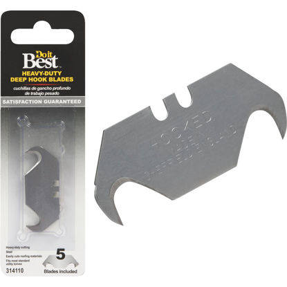 Picture of Do it Best Heavy-Duty 2-Ended Hook 2-1/3 In. Utility Knife Blade (5-Pack)
