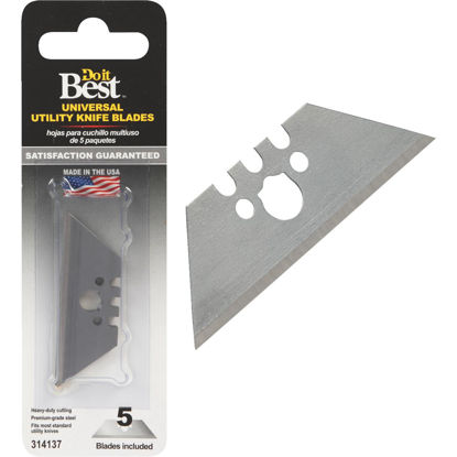 Picture of Do it Best Universal 2-Point 2-3/8 In. Utility Knife Blade (5-Pack)
