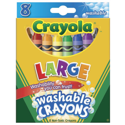 Picture of Crayola Large Washable Crayons (8-Pack)