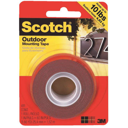 Picture of 3M Scotch 1 In. x 60 In. Double-Sided Outdoor Mounting Tape (10 Lb. Capacity)