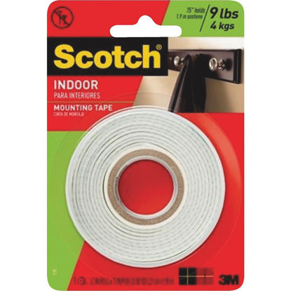 Picture of 3M Scotch 1/2 In. x 75 In. White Indoor Mounting Tape (9 Lb. Capacity)