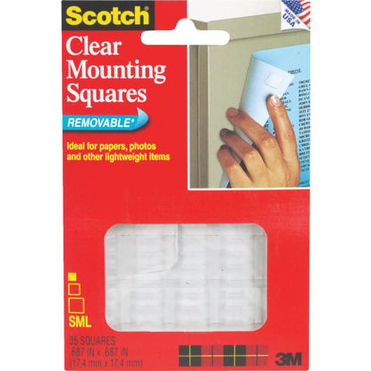 Picture of 3M Scotch 0.68 In. x 0.68 In. 1 Lb. Capacity Removable Mounting Squares (35-Pack)