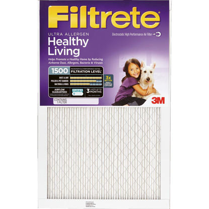Picture of 3M Filtrete 16 In. x 20 In. x 1 In. Ultra Allergen Healthy Living 1550 MPR Furnace Filter