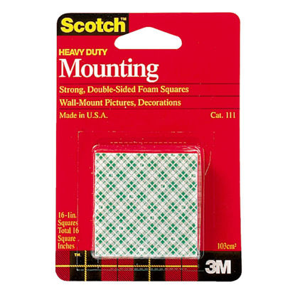 Picture of 3M Scotch 1 In. x 1 In. 4 Lb. Capacity Removable Mounting Squares (16-Pack)