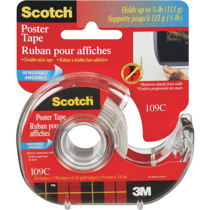 Picture of 3M Scotch 3/4 In. W. x 150 In. L. Clear Removable Double-Sided Poster Mounting Tape