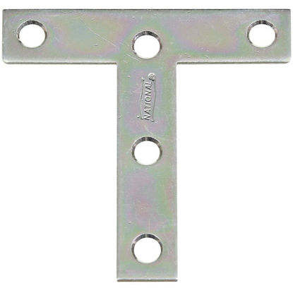 "Picture of National 3"" x 3"" Zinc T-Plate, (2-Pack)"