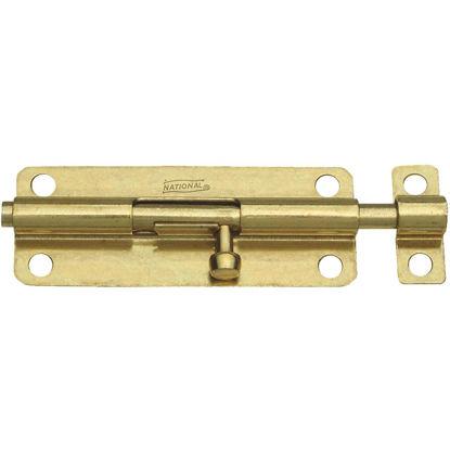 Picture of National 5 In. Brass Steel Door Barrel Bolt