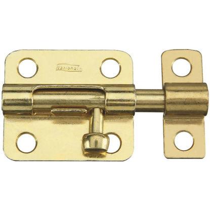 Picture of National 2-1/2 In. Brass Steel Door Barrel Bolt