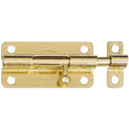 Picture of National 4 In. Brass Steel Door Barrel Bolt