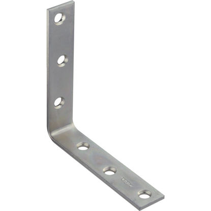Picture of National Catalog 115 5 In. x 1 In. Zinc Corner Brace