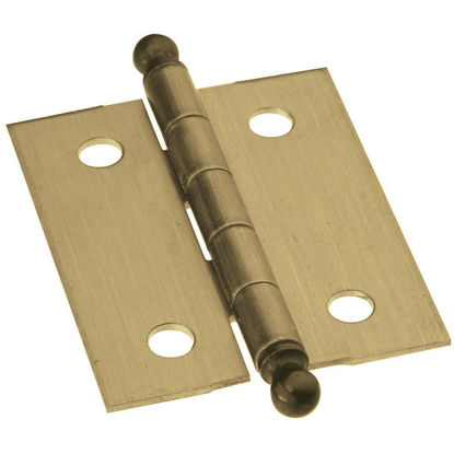 Picture of National 1-1/4 In. x 1-1/2 In. Antique Brass Ball Tip Hinge (2-Pack)