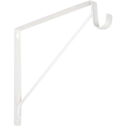 Picture of Knape & Vogt 10 In. H. x 11 In. D. Fixed Shelf & Rod Bracket, White