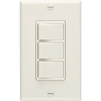 Picture of Broan 3-Function 20A/15A 120V Ivory Rocker Switch