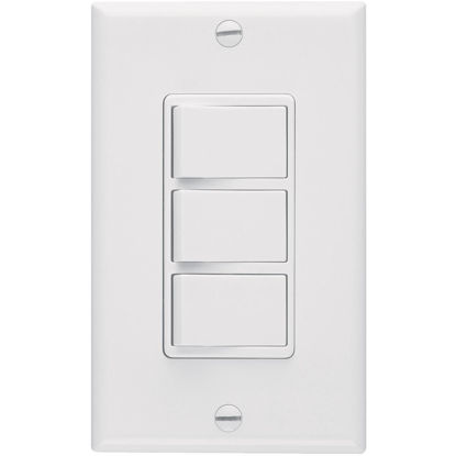 Picture of Broan 3-Function 20A/15A 120V White Rocker Switch