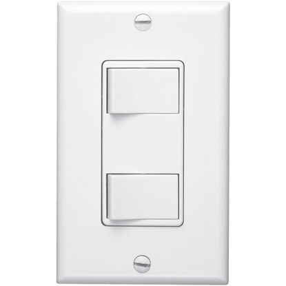 Picture of Broan 2-Function 20A/15A 120V White Rocker Switch